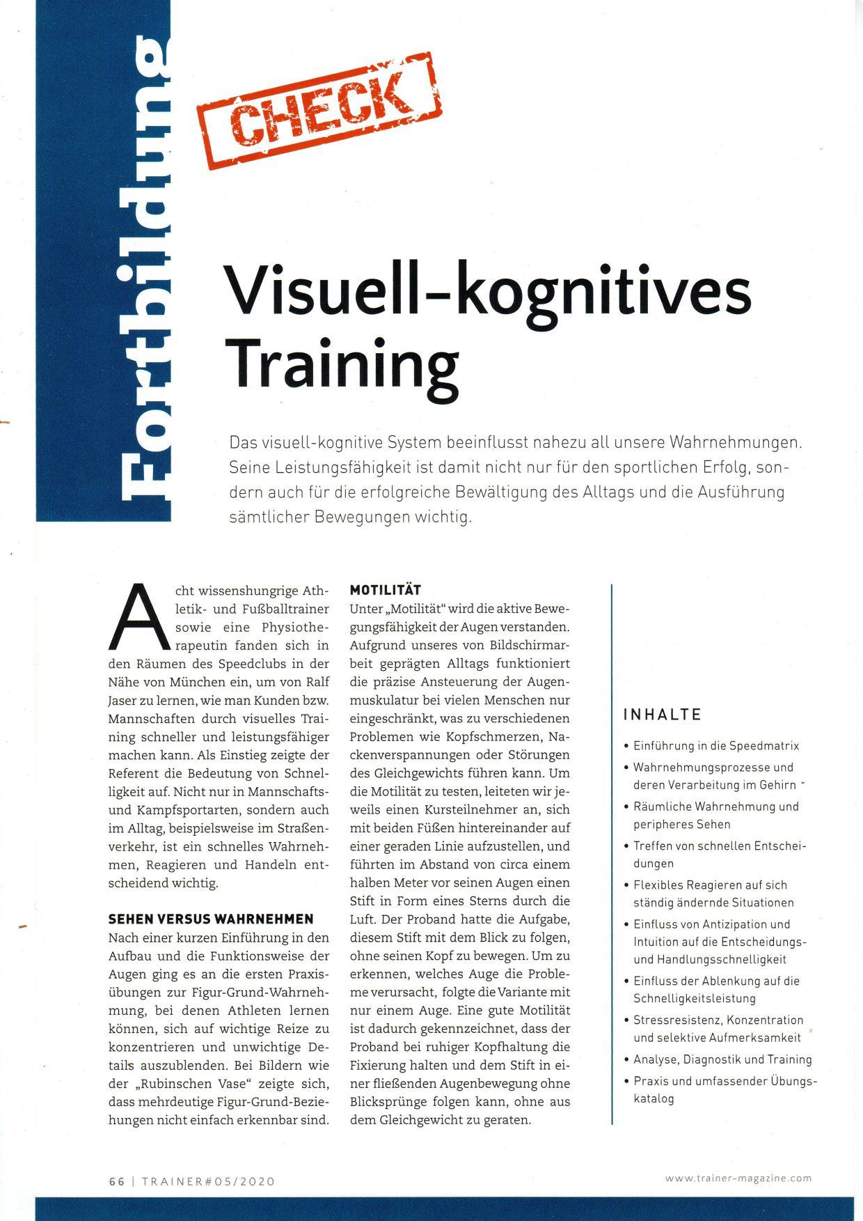 Ausbildungscheck Trainermagazin 1 klein