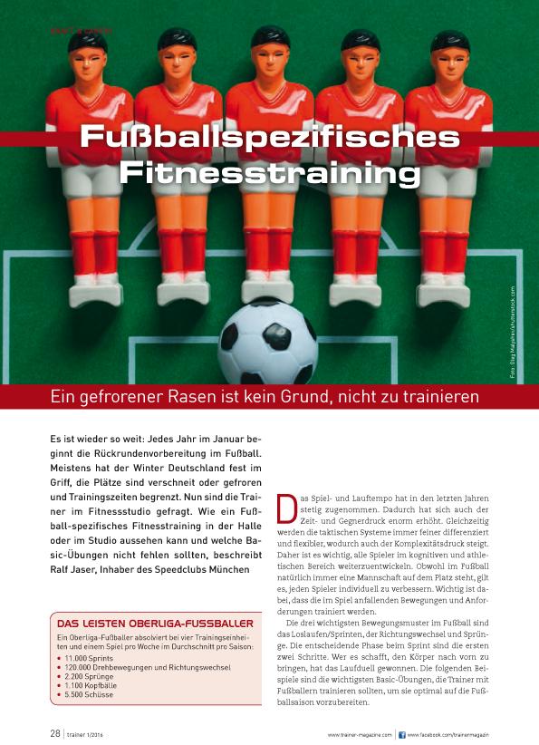 Trainerzeitschrift Fußball Fitness 1